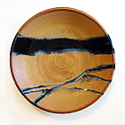 Yellow & Gold Stoneware Charger